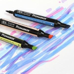 Image 5 - ウィンザー & ニュートンツインチップアルコールベース Promarkers 両面ファイン/斜め先端アートマーカーペンアーティスト描画用品