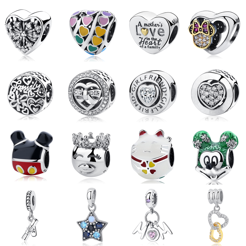 Wholesale Letter AccessoriesDiy Jewelry Making Women Fit Pandora Charms Beads Sterling Silver 925 Original reede(China)