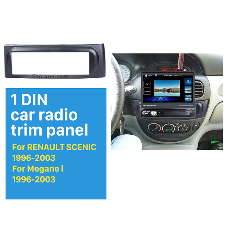 Seicane Newest 1Din car radio Fascia for 1996-2003 RENAULT SCENIC Megane In Dash Mount Kit Adaptor auto stereo install DVD Frame