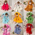 15 Styles BDCOLE Handmade BJD Doll Rabbit ear-shaped Plush Coat Clothes Accessories for 30-60cm 1/3 Dolls New Year Girl Gift