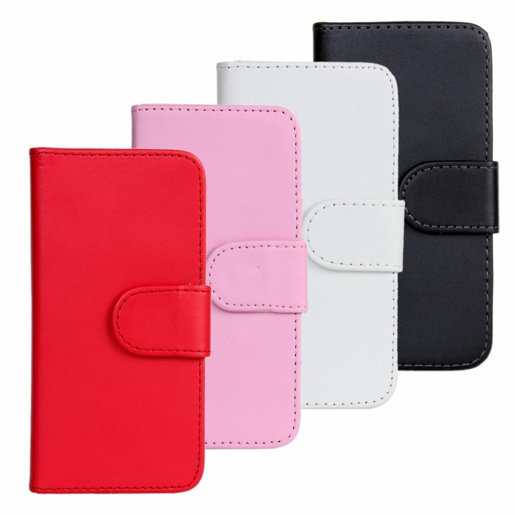 Para iphone 5 5s se caso de la cubierta del tirón de la carpeta de cuero de la p