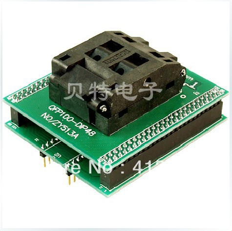 Ucos dedicated programming block QFP100 adapter ZY513A burning test