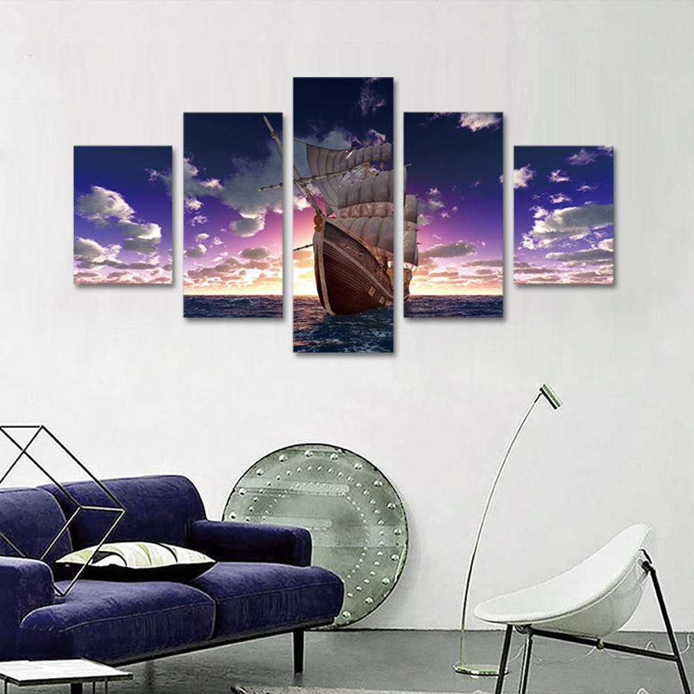 Unframed Canvas Prints The Sea Sailboat Giclee Wall Decor Prints Wall Pictures For Living Room Wall Art Decoration Dropshipping