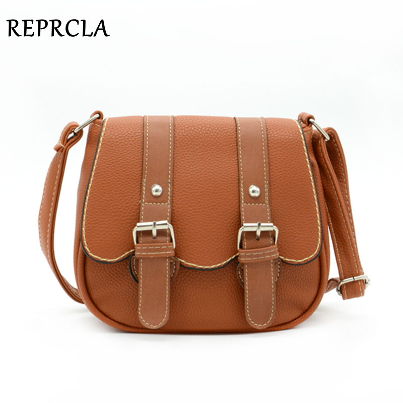 Moda Double Belt Žene Messenger Torbe PU kožne torbe na ramenima Crossbody Dizajner torbe Saddle Bag 9L03