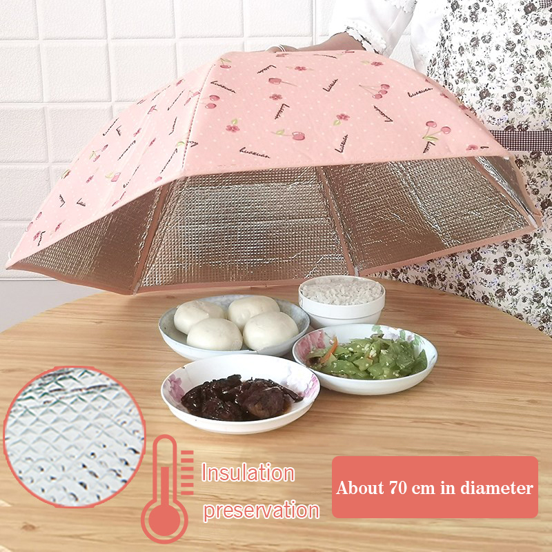 Insulation Dish Cover Household Large Folding Thick Winter Insulation Cover Kitchen Table Dishes Dust Cover Kitchen Tool
