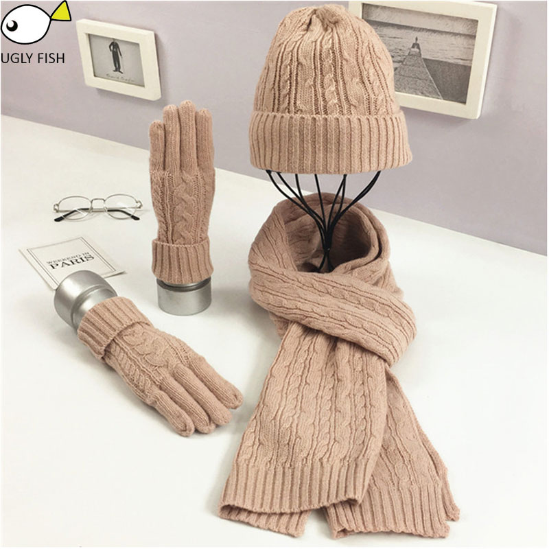 Set Hat And Scarf Female Hat With Scarf For Women Men Hat Scarf Female Male