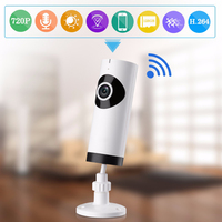 (1 pcs)180 degree 720P Panoramic WIFI Camera Night Version LED support APPs control Fish Eye Baby Monitor CCTV Video