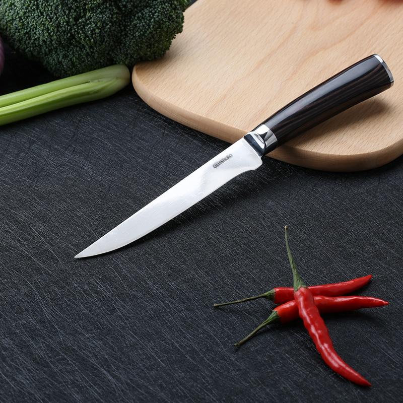 Chef professionnel Couteau 7cr17 Courbe Sharp Désossage Flexible Cuisine Couteaux Japonais Acier Inoxydable Boucher Filet Couteau à Poisson Coo
