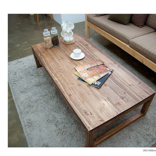 Delicieux Antique Rustic Vintage Pine Coffee Center Table Wooden Living Room  Furniture Tea Table Rectangle Industrial Cocktail Table Wood