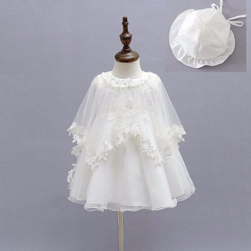 c2a7a5fd3b76 3pcs set summer 1 year girl baby birthday dress handmade lace party ...