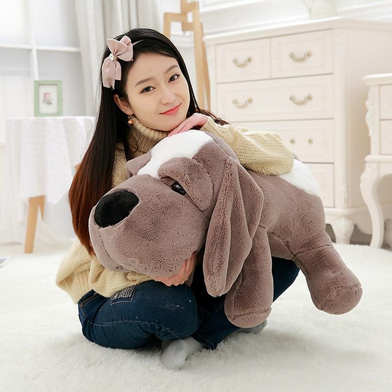 Cute Big Eyes Dog Plush Toy Stuffed Animal Pillow Plush Pillow Soft Sofa Cushion Cartoon Pillow