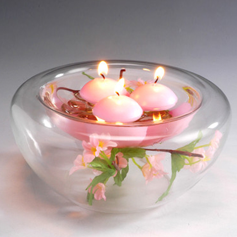 10pcs Small Unscented Floating Candles For Wedding Party