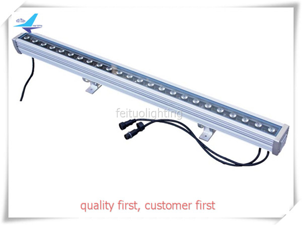 free shipping Linear Floorlight LED Bar Wall Washer Fixtures 24x3w Outdoor RGB 3IN1 Beam DMX Landscape Light Stage DJ Effect