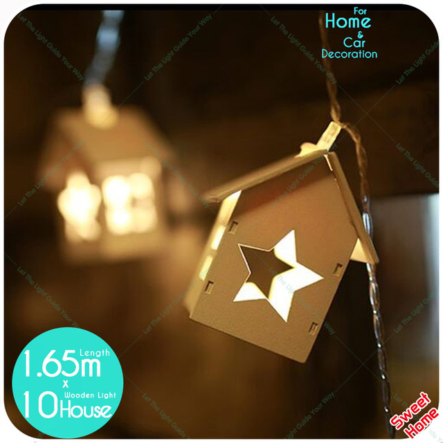 lighted wooden 10led star warm white string lights led fairy light wedding valentines day party home - Valentine String Lights