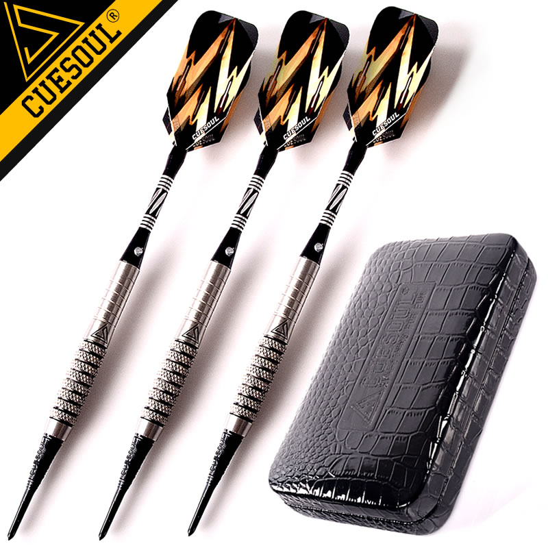 New CUESOUL Soft Tip Tungsten Darts 18g 15cm Electronic Dart  Packaging With Case wmg08580 professional 18 soft tip electronic voice dartboard with 6 dart black multicolor