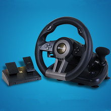 Game accessory Lima shida second generation pxn-v3ii simulation automobile race vibration computer game steering wheel