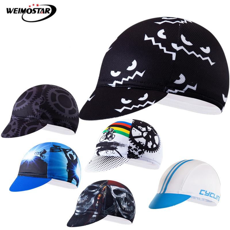Pro Team Sport Cycling Caps gorra ciclismo Summer Sun UV Bicycle Cap bandana skull MTB Bike Head Hat Unisex Pirate Bicycle Cap