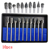 New 10pc 1 8 Shank Tungsten Carbide Milling Cutter Rotary Brocas Com Escareador Hss Steel Cone