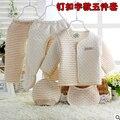 Горячая распродажа осень зима мальчик толщиной теплая одежда 5 шт. детская одежда новорожденного хлопчатобумажное белье новорожденный одежда