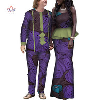 Summer Couple African Clothing Traditional African Clothing For Women Men Bazin Riche Dashiki Women Skirt Set Men's Suits WYQ156