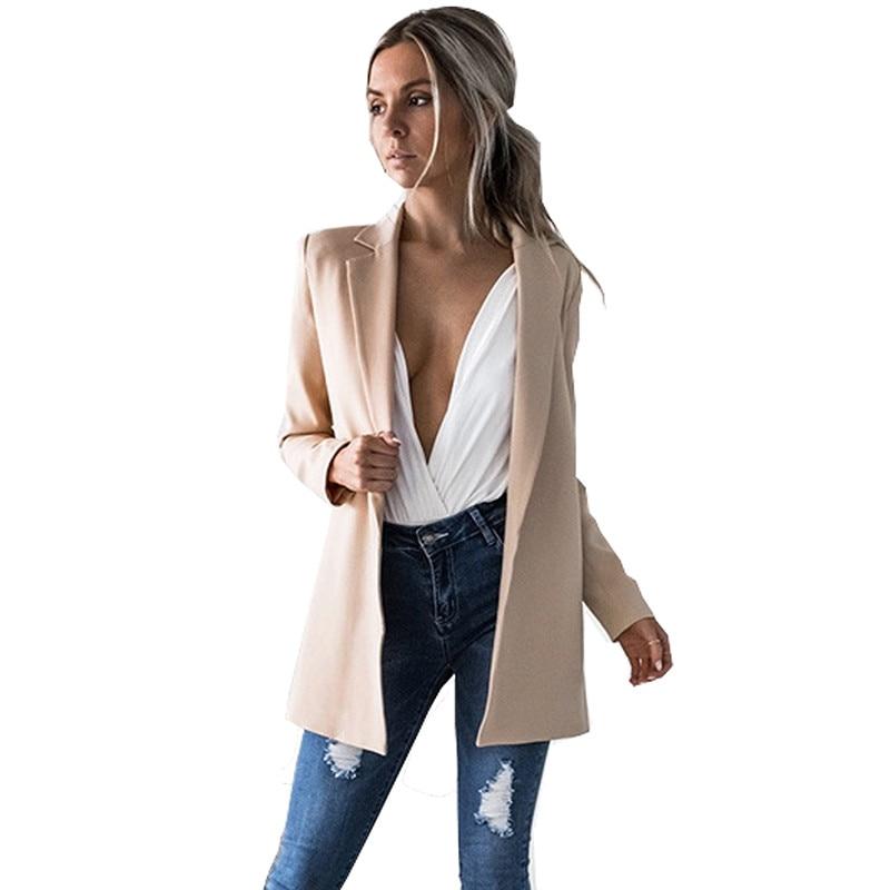 Autumn Fall Winter 2017 Fashion Long Sleeve Blazer Feminino Women Office Female Jackets Cape Ladies Blazers