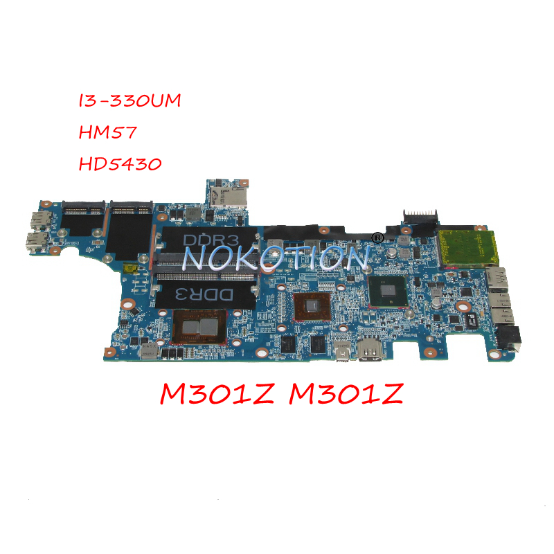 NOKOTION CN-0F1X70 0F1X70 F1X70 laptop motherboard for dell Inspiron M301Z M301z HM57 HD5430 I3-330UM CPU DDR3 Main board works nokotion for dell inspiron m301z n301z laptop motherboard cn 0f1x70 0f1x70 hm57 i3 330um cpu ddr3 hd5430 video card