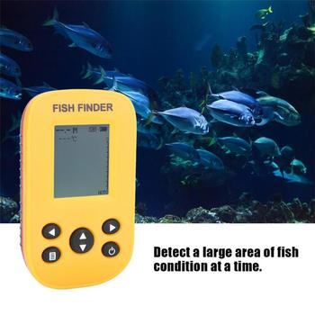125KHz Sonar Frequency Wireless Fish Locator Underwater LCD Fishing Finder