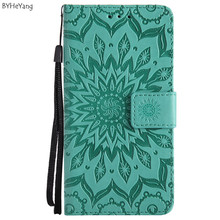 BYHeYang Cover For Motorola Moto E4 Case PU Leather Fundas Card Slot Stand Desig