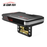 2 In 1 Car Motion Detector Universal Dash Cam Anti Radar Detector Car DVR Camera Flow