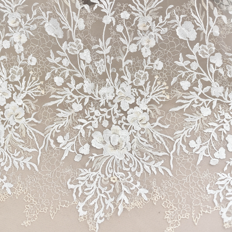 plum dot flower mesh embroidery lace fabric Wedding Dress Tulle Skirt Material fabrics for patchwork kumas telas por metros