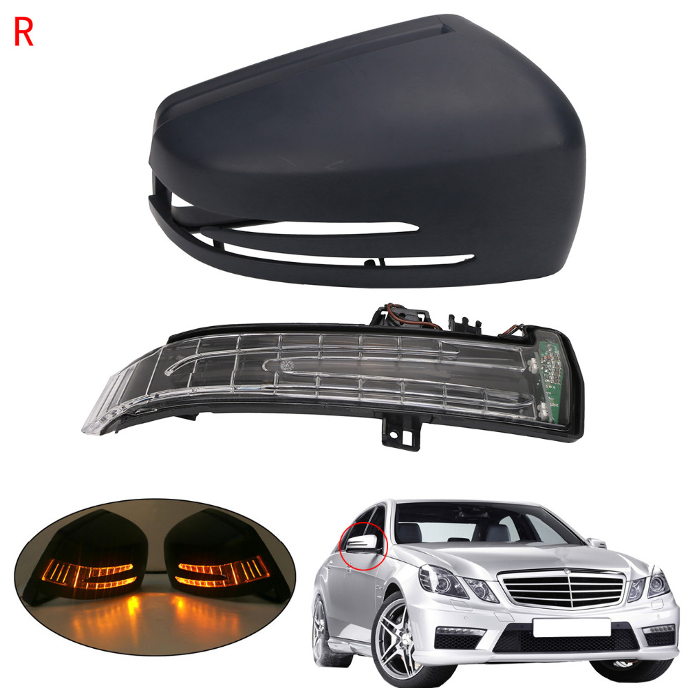 Right Side Door Wing Mirror with Signal Light For Mercedes Benz MB E C S Class