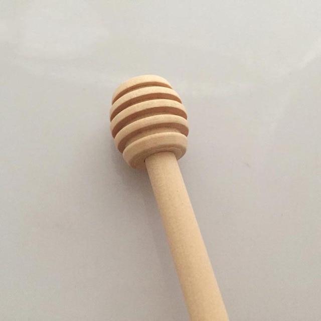 3Pcs/lot 8cm Mini Wooden Honey Stick Home Kitchen Supplies Wood Honey Spoon Stick for Honey Hot Sale 8z-ca198