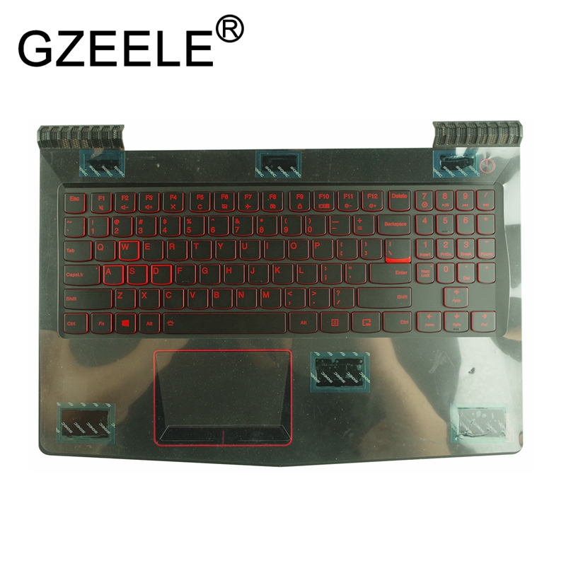 GZEELE NEW FOR <font><b>Lenovo</b></font> Legion <font><b>Y520</b></font> <font><b>Y520</b></font>-15 <font><b>Y520</b></font>-15IKB Laptop Palmrest US Keyboard bezel TP AP13B000300 upper <font><b>case</b></font> top cover image