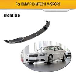 Przedni zderzak samochodowy wargi dla BMW serii 5 F10 F11 F18 M Sport 2013 - 2016 zderzak z włókna węglowego Spoiler dyfuzor samochodów naklejki
