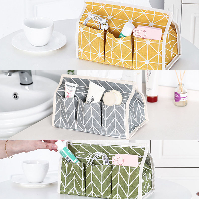 Makeup Cosmetic Foldable Box Bag Organizer Stationary Container Desktop Storage