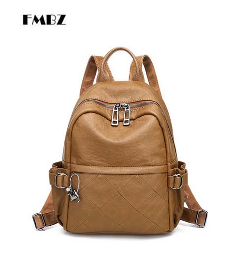 FMBZ rhombus ladies backpack women 2018 new casual woman backpack soft leather women bag College backpack free shipping fmbz leather women s bag 2018 new soft leather large capacity ladies woman handbag casual shoulder messenger bag free shipping