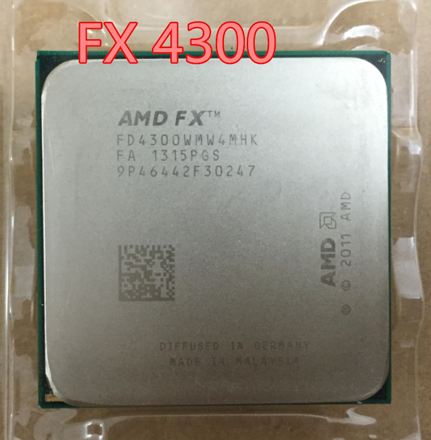 US $33 75 |AMD FX 4300 fx 4300 3 8GHz 4M Quad Core desktop processors CPU  Socket AM3+ Computer Four nuclear (working 100% Free Shipping)-in CPUs from