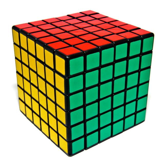 2016 Nuevo Ultra-Suave Velocidad Torcedura Puzzle Cubo Mágico 6*6*6 Colorido Juguetes y Pasatiempos educación Cube IQ Cerebro Educación-50