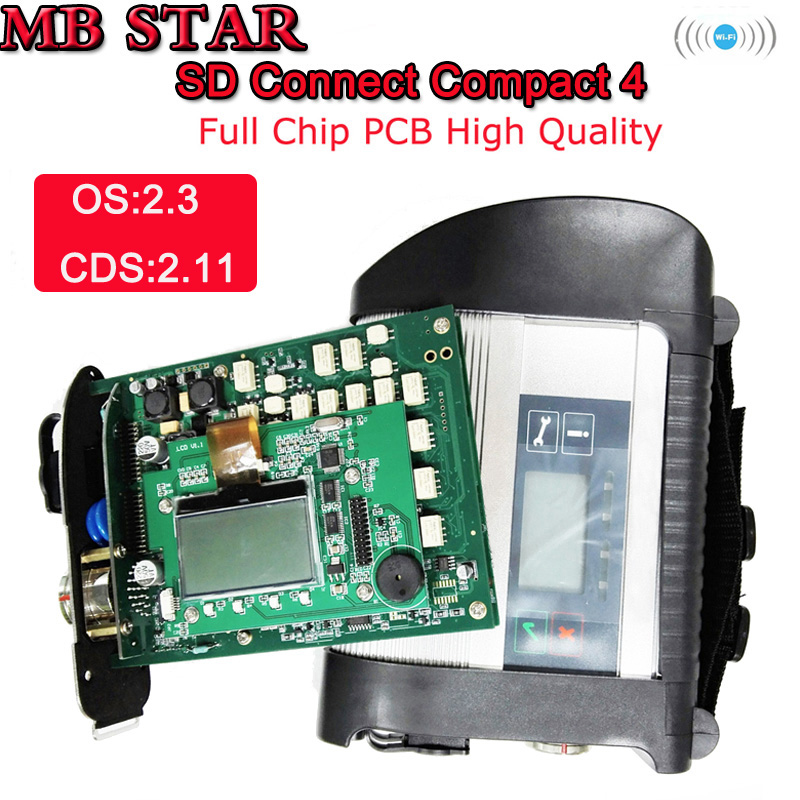 2018-12 полный чип звезды MB SD Connect компактный C4 мультиплексор диагностический инструмент STAR C4 диагностики Системы с WI-FI Функция с HDD