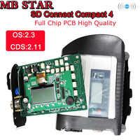 S + + + pełny chip MB gwiazda C4 sd connect kompaktowy C4 samochodów osobowych i ciężarowych oprogramowania 2019.12V Mb gwiazda multiplekser narzędzie diagnostyczne z WIFI
