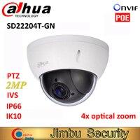 Dahua PTZ camera SD22204T GN 2Mp Network Mini Speed Dome 4x optical zoom Outdoor Camera Auto IRIS English Firmware