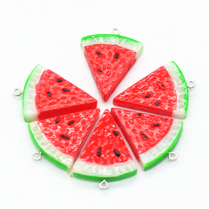 size 10x10x3mm Watermelon Polymer Clay Cabochons