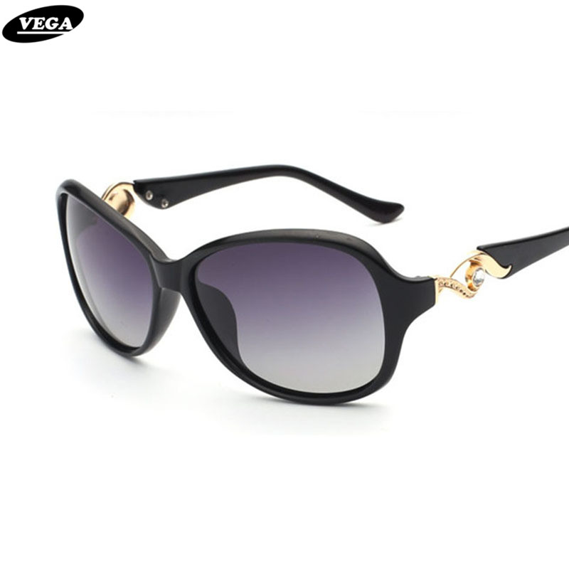 VEGA New Fashion Brand Design Polarized Solglasögon Damer Solglasögon UV400 oculos de sol feminino 9001