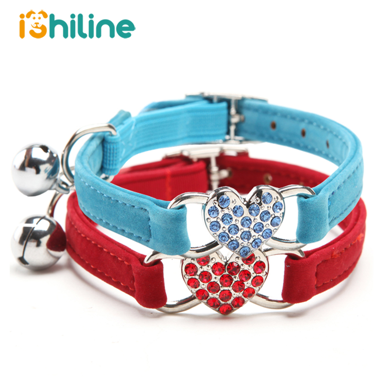 Small Cats Collars Pets Accessories Rhinestone Puppy Supplies For Dogs Kitten Chihuahua kitten halsband kedi