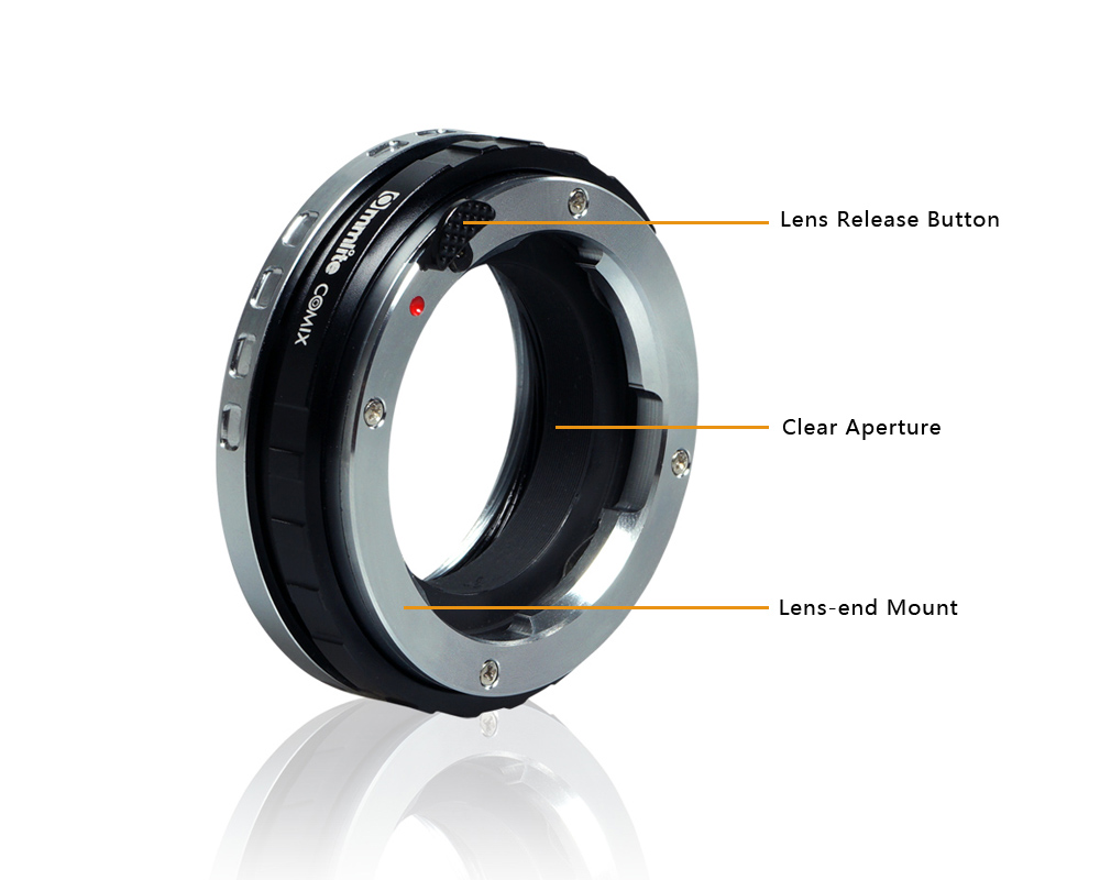 Commlite CoMix Macro Close-focus Lens Mount Adapter LM-E for Leica, Zeiss, Voigtlander M Series Lens and Sony E-Mount Camera