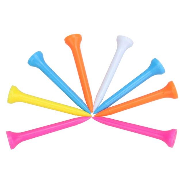 """100 יח'\אריזה מקצועי מעורב צבע עמיד פלסטיק 54 מ""""מ עץ גולף טיז גולף אביזרי עבור ספורט ובידור"""
