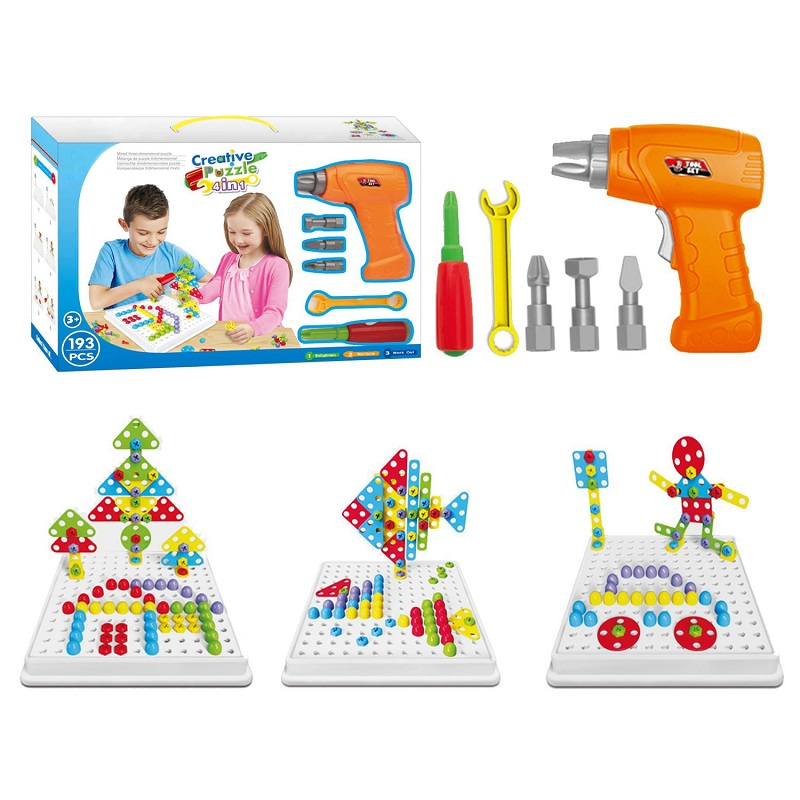 193 Pcs Set Stem Learning Educational Design And Drill Toy