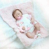 NPK 22 дюймов реалистичные Спящая кукла набор силиконовых Reborn новорожденный куклы для детей Playmat подарок NSV775