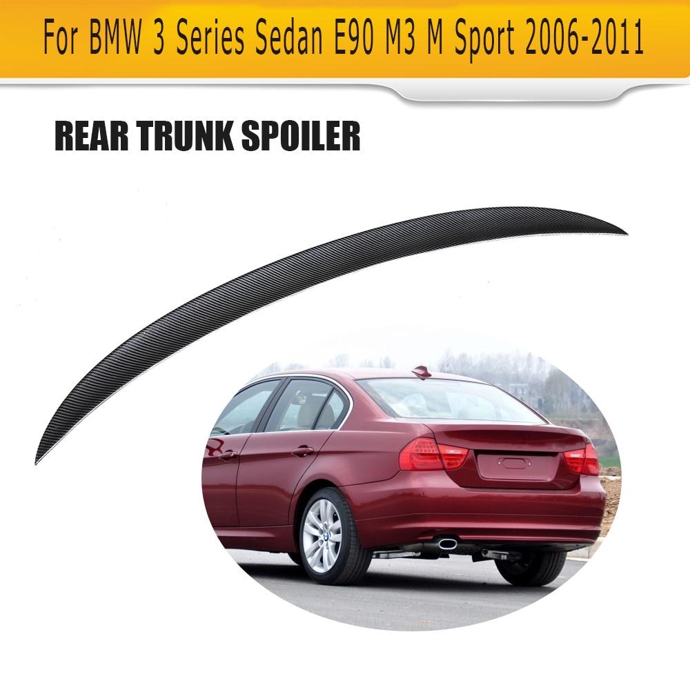 3 Series Carbon fiber Rear trunk wing Spoiler for BMW E90 Sedan 4 Door 06-11 M3 M Sport 323i 325i 328i 335d 335i P Style