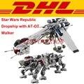 2017 DHL LEPIN 05053 Star Wars 1788 unids República Dropship con AT-OT Andador Clon 10195 Juguete Modelo de Bloques de Construcción Ladrillos regalo